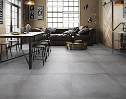 Beton kolekcja Lukka - Średnia otwarta jadalnia w salonie, styl industrialny - zdjęcie od Cerrad