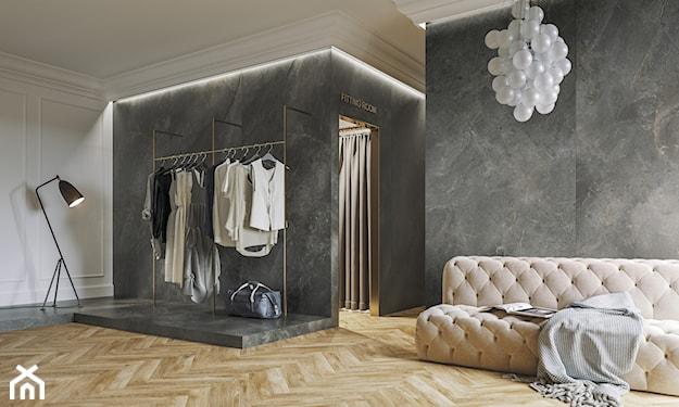 klasyczne wnętrze, płytki wielkoformatowe, płytki na ścianie