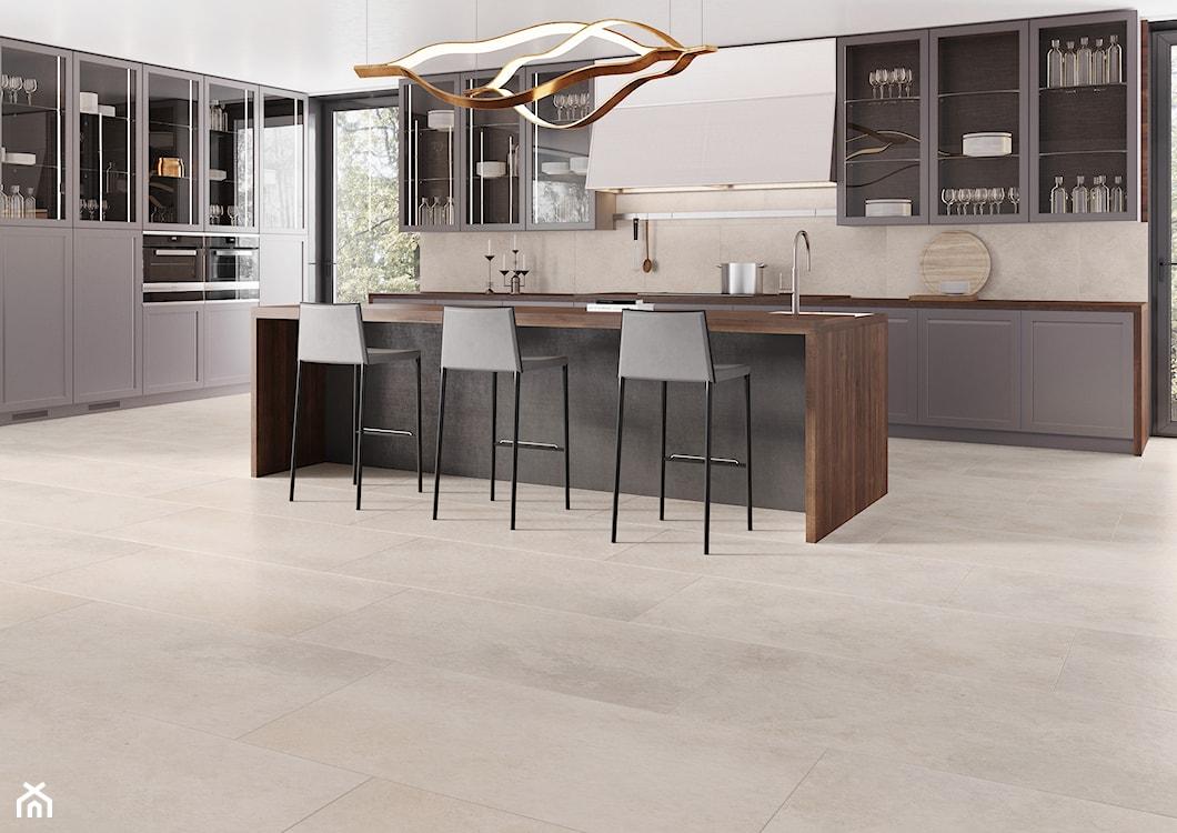 płytki inspirowane kamieniem w kuchni