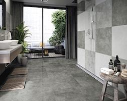 Kolekcja Apenino - Średnia łazienka w bloku w domu jednorodzinnym z oknem, styl minimalistyczny - zdjęcie od Cerrad
