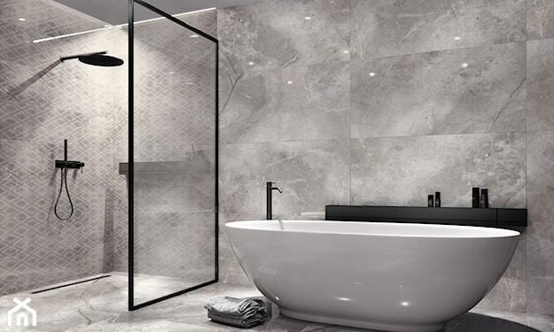 nowoczesna łazienka, szara łazienka, łazienka w szarościach