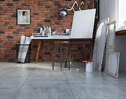Loft Brick - Średnie białe biuro pracownia kącik do pracy - zdjęcie od Cerrad