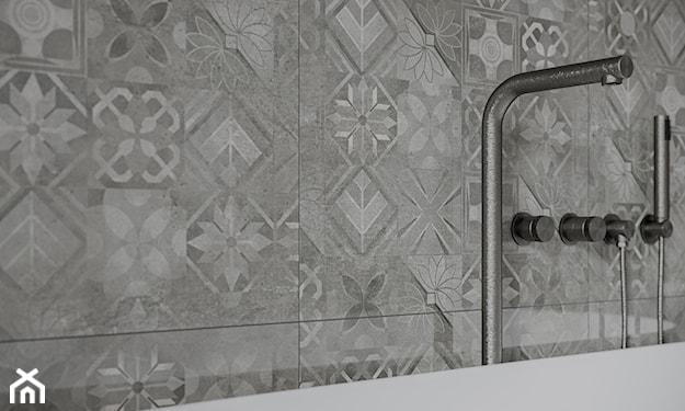 płytki inspirowane betonem w łazience