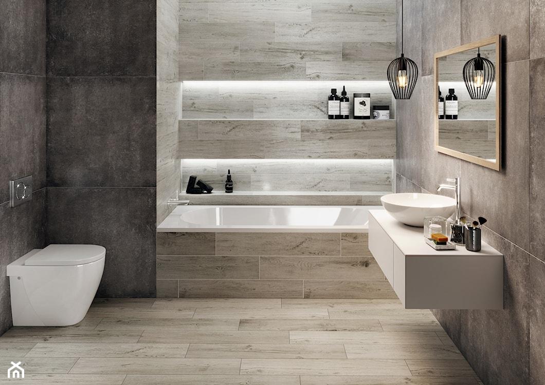 matowe płytki do łazienki w naturalnym stylu