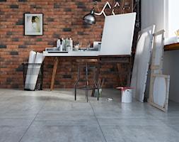 Beton kolekcja City - Małe białe biuro kącik do pracy - zdjęcie od Cerrad