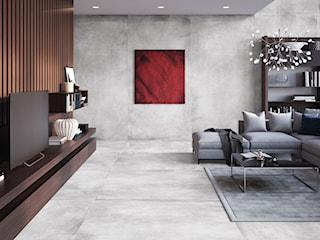 Do jakich wnętrz pasują płytki wielkoformatowe? Zobacz zastosowania dużych płytek inspirowanych betonem