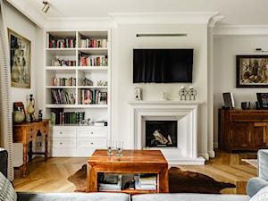 Dom - Gdańsk Oliwa - Duży biały salon, styl klasyczny - zdjęcie od Anna Serafin Architektura Wnętrz