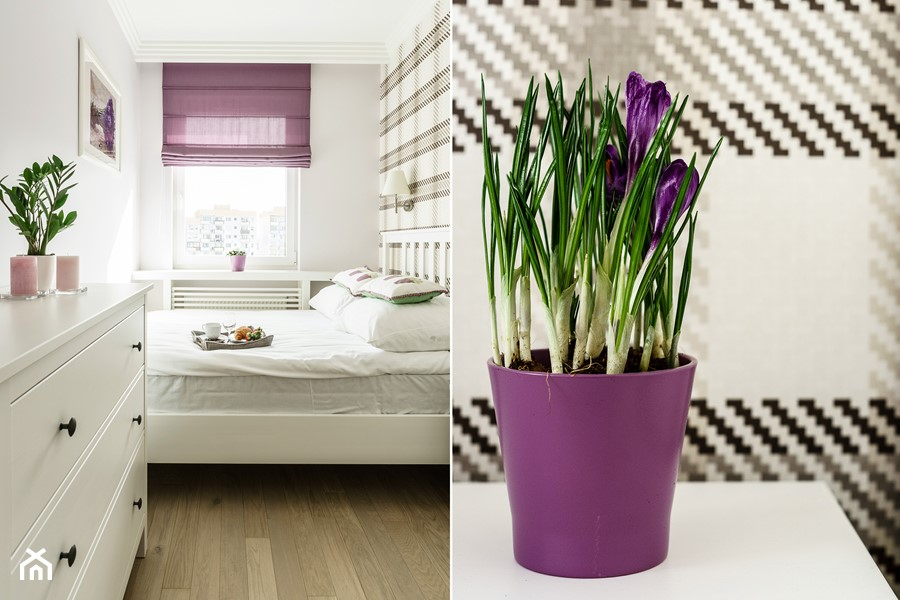 Mieszkanie wakacyjne styl prowansalski – Aviator – Gdańsk - Mała biała sypialnia małżeńska, styl prowansalski - zdjęcie od Anna Serafin Architektura Wnętrz