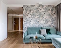 Apartament - Gdynia Kosakowo - Mały biały salon - zdjęcie od Anna Serafin Architektura Wnętrz