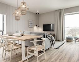 Apartament YACHT PARK 1 - Gdynia - Salon, styl kolonialny - zdjęcie od Anna Serafin Architektura Wnętrz - Homebook