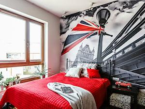 Loft - Altoria - Gdynia - Średni szary kolorowy pokój dziecka dla chłopca dla nastolatka, styl nowoczesny - zdjęcie od Anna Serafin Architektura Wnętrz