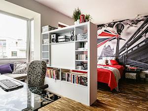 Loft - Altoria - Gdynia - Średni szary brązowy pokój dziecka dla chłopca dla dziewczynki dla nastolatka, styl nowoczesny - zdjęcie od Anna Serafin Architektura Wnętrz