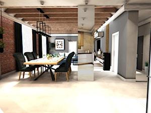 Wizualizacja salonu - zdjęcie od Anna Błaszczuk Architekt Wnętrz | Piła | Projektowanie wnetrz pila |