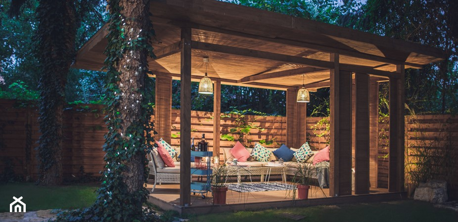 Oświetlenie altany – sprawdź pomysły na oświetlenie altany ogrodowej
