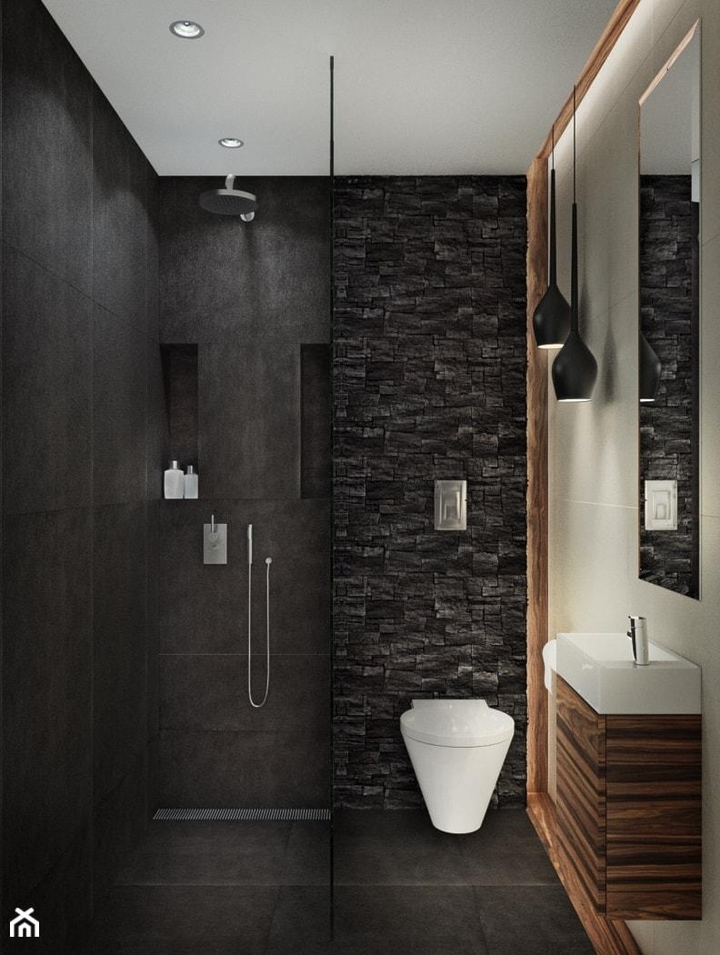 wc przy salonie i pokoju go cinnym z prysznicem dla go ci. Black Bedroom Furniture Sets. Home Design Ideas