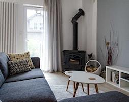 REALIZACJA   spokój pod miastem - Mały szary biały salon, styl skandynawski - zdjęcie od Studio Malina – Architekci & Projektanci wnętrz