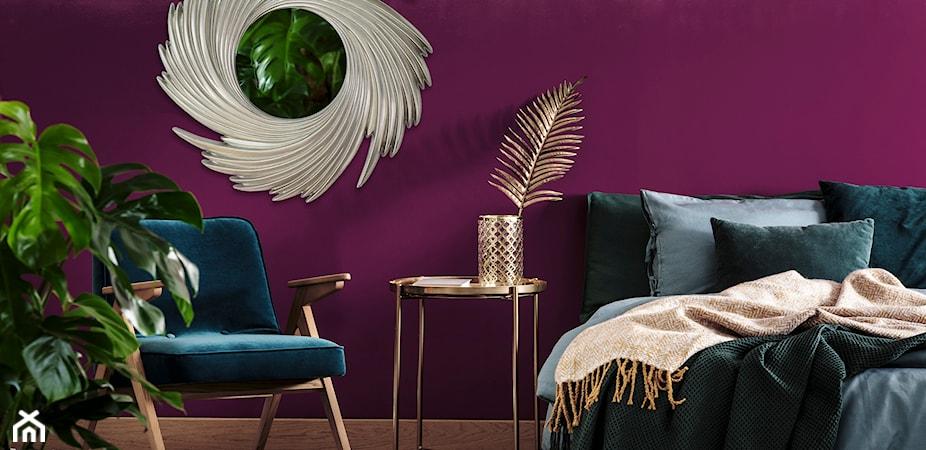 Fiolet we wnętrzach - jaki kolor pasuje do fioletowych ścian?