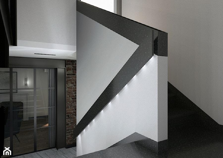 Projekt mieszkania w stylu industrialnym II - Schody, styl industrialny - zdjęcie od Karolina Saj-Chodorowska Architektura Wnętrz