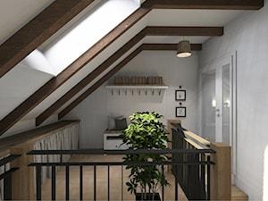 Projekt mieszkania na poddaszu w stylu rustyklanym - Schody, styl rustykalny - zdjęcie od Karolina Saj-Chodorowska Architektura Wnętrz