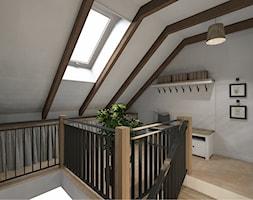 Mieszkanie na poddaszu - Schody, styl rustykalny - zdjęcie od Pracownia projektowa PERSPEKTYWA