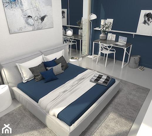 Granatowa Sciana W Sypialni Pomysly Inspiracje Z Homebook