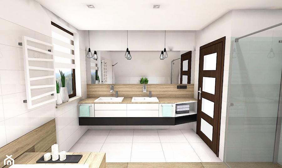 Drewno W łązience Drewniana łazienka Drewniany Blat W