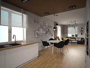 Salon z kuchnią - zdjęcie od PRACOVNIA Projektowanie wnętrz
