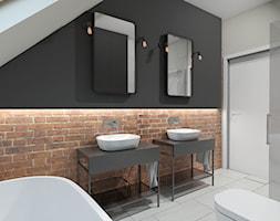 Łazienka w stylu loft na poddaszu - zdjęcie od PRACOVNIA Projektowanie wnętrz
