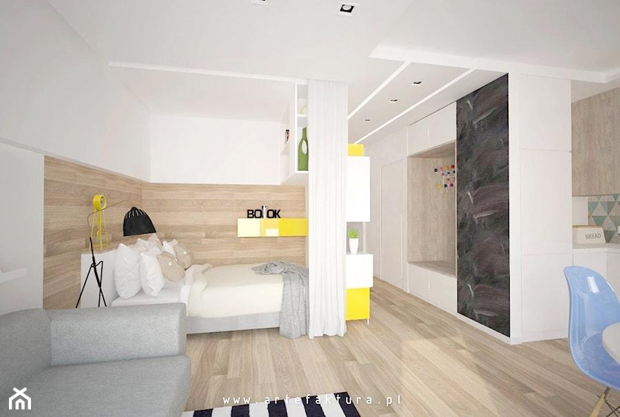Projekt Mieszkania Kawalerki Aneks Sypialniany W