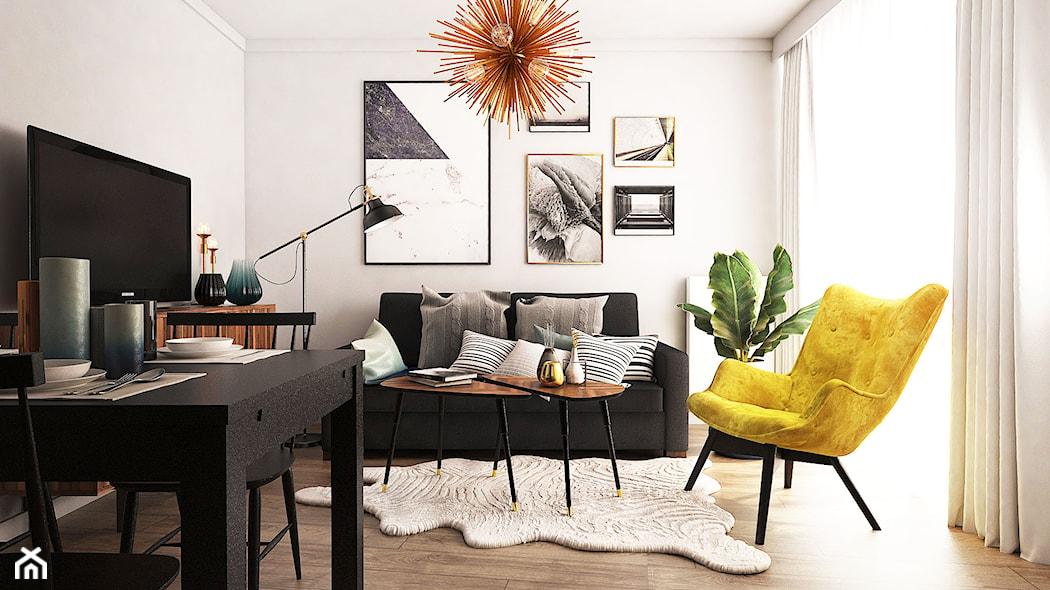uszak fotel cegła na ścianie
