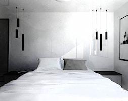 Sypialnia biel+beton - zdjęcie od gabriella-bober - Homebook
