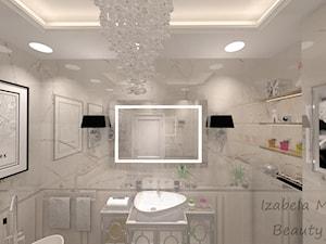 Apartament na Bemowie w stylu Nowojorskim - Średnia beżowa łazienka w bloku w domu jednorodzinnym bez okna, styl nowojorski - zdjęcie od Beauty Homes