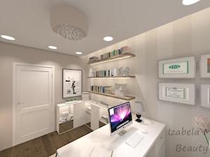Apartament na Bemowie w stylu Nowojorskim - Średnie beżowe biuro domowe w pokoju, styl nowojorski - zdjęcie od Beauty Homes