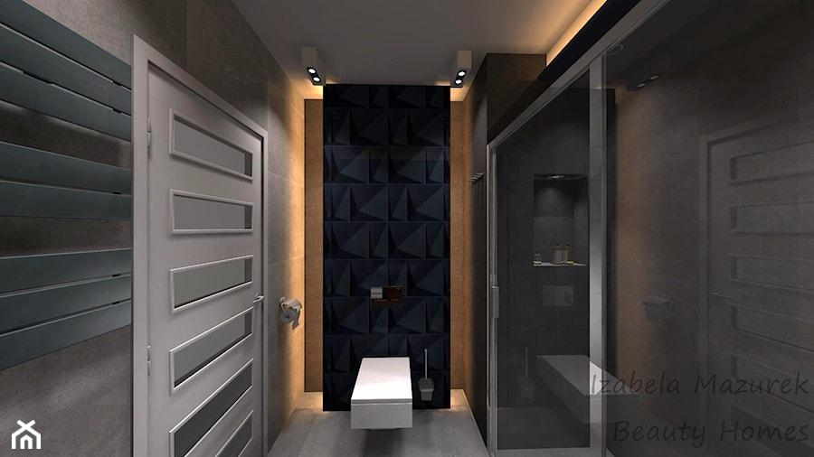 Aranżacje wnętrz - Łazienka: Nowoczesna łazienka z ciemnym akcentem - Beauty Homes. Przeglądaj, dodawaj i zapisuj najlepsze zdjęcia, pomysły i inspiracje designerskie. W bazie mamy już prawie milion fotografii!