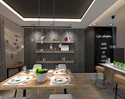 Jadalnia z kuchnią w stylu New Nordic - zdjęcie od Beauty Homes