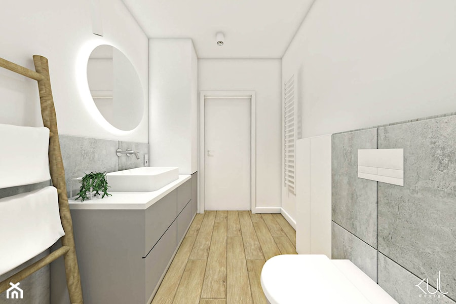 DOM | BORKOWO - Duża biała łazienka, styl nowoczesny - zdjęcie od kuldesign