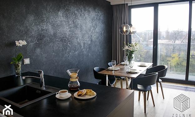 minimalistyczna jadalnia z nutą loft