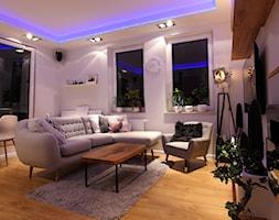 Mieszkanie 50m - Średni biały salon z jadalnią, styl skandynawski - zdjęcie od Magdalena Kruczyk 2