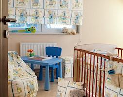 Średni beżowy pokój dziecka dla chłopca dla niemowlaka dla malucha, styl tradycyjny - zdjęcie od Dekoria.pl