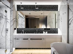 APARTAMENT POWISLE - Średnia biała czarna szara łazienka jako salon kąpielowy, styl nowoczesny - zdjęcie od Republika Architektury