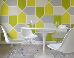 Mieszkanie singielki M_58 Wrocław - Mała kolorowa jadalnia w kuchni, styl nowoczesny - zdjęcie od MESH
