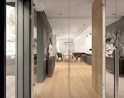 Dom w nowoczesnym stylu - Duży szary hol / przedpokój, styl nowoczesny - zdjęcie od MKdesigner - Homebook