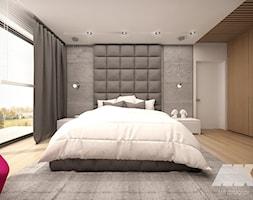 Dom w nowoczesnym stylu - Duża szara sypialnia małżeńska, styl nowoczesny - zdjęcie od MKdesigner - Homebook