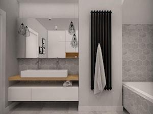 DOM DLA CZTEROOSOBOWEJ RODZINY - Średnia szara łazienka, styl skandynawski - zdjęcie od MKdesigner