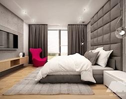 Dom w nowoczesnym stylu - Średnia szara sypialnia małżeńska, styl nowoczesny - zdjęcie od MKdesigner - Homebook