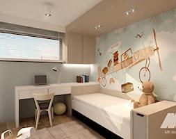 Dom w nowoczesnym stylu - Mały szary pokój dziecka dla chłopca dla dziewczynki dla ucznia dla maluch ... - zdjęcie od MKdesigner - Homebook