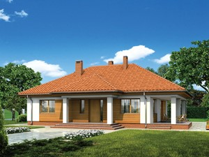 Projekt domu - Murator M163 - Zachodni widok
