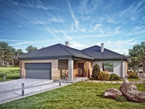 Projekt domu - Murator C302 - Zaszczytny