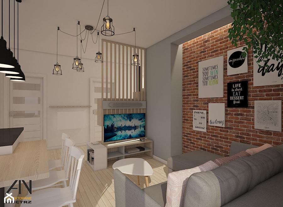 Skandynawskie mieszkanie na Ursynowie - zdjęcie od AIN projektowanie wnętrz