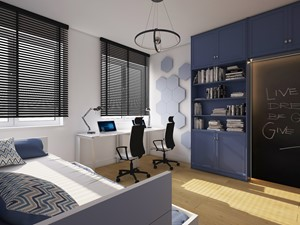 Mieszkanie na Woli c.d pokój chłopaków - zdjęcie od AIN projektowanie wnętrz